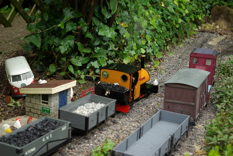 Goods trains passing at Oldland Green